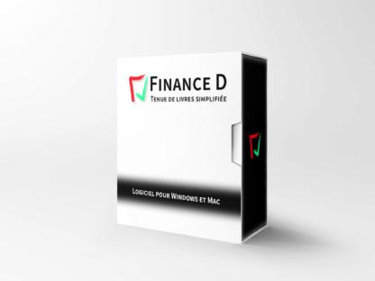 Boîte du logiciel Finance D. Logiciel comptable gratuit conçu pour le Québec.