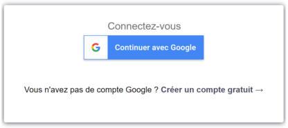 Connexion simple avec une compte Google
